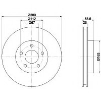 Тормозные диски Mercedes Vito W639 (04-..., передние, Veka)