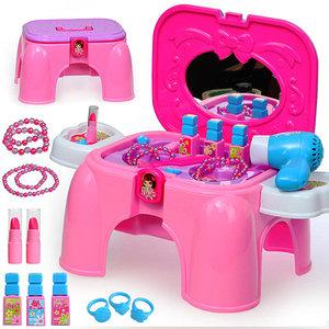 Трюмо для девочек с аксессуарами (00895, Трюмо в чемодане-стульчике)