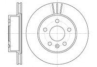 Тормозные диски Mercedes Vito W638 (98-03,передние, RoadHouse, D276)