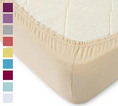 Простынь на резинке из трикотажной ткани от Текс-Дизайн (90х200 см / Кремовый), фото 2