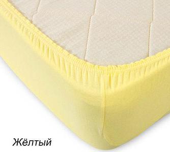 Простынь на резинке из трикотажной ткани от Текс-Дизайн (120x200 см / Желтый)