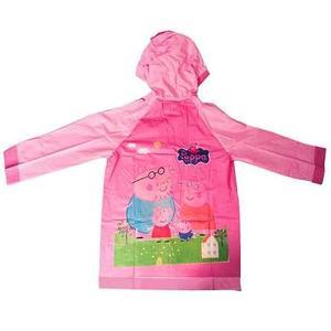 """Дождевик детский из непромокаемой ткани с капюшоном (M / """"Свинка Пеппа"""")"""