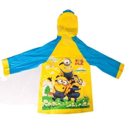 """Дождевик детский из непромокаемой ткани с капюшоном (M / """"Миньоны"""")"""