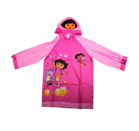 """Дождевик детский из непромокаемой ткани с капюшоном (S / """"Дора""""), фото 2"""