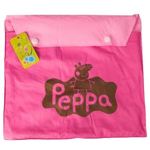 """Дождевик детский из непромокаемой ткани с капюшоном (XL / """"Свинка Пеппа"""")"""
