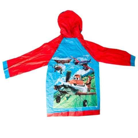 """Дождевик детский из непромокаемой ткани с капюшоном (XL / """"Самолётики"""")"""