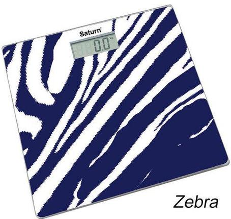 Весы напольные электронные Saturn (Zebra), фото 2