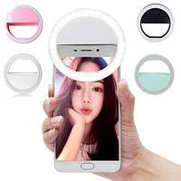 Кольцо светодиодное для селфи с тремя режимами яркости подсветки Selfie Ring Light XJ-01 (Круглая)