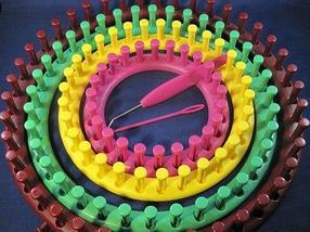 Набор лумов – приспособлений для кругового и прямого вязания [4 станка] ]ZHI NU PAIZ (Круглая), фото 3