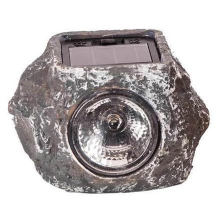Светильник декоративный для сада «Солнце в камне» на солнечной батарее (Серый), фото 2