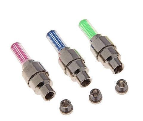 Комплект светодиодных колпачков на ниппель автомобиля [4 шт.] (Рубиновый), фото 2