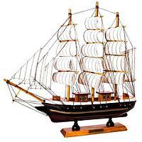 Парусник в миниатюре из дерева «Sailing ships» (Большой)