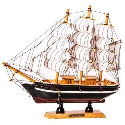Парусник в миниатюре из дерева «Sailing ships» (Маленький), фото 2