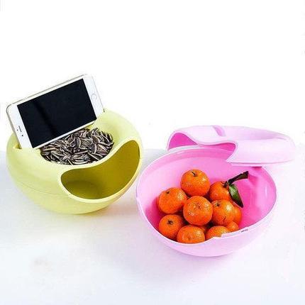 Чаша-органайзер для семечек и орехов (Черно-Белый), фото 2