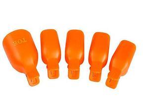 Набор зажимов-колпачков для снятия гель-лака [5, 10 предметов] (для рук / 10 штук), фото 2