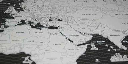 Скретч карта мира стираемая [58х82 см] (Черный), фото 3