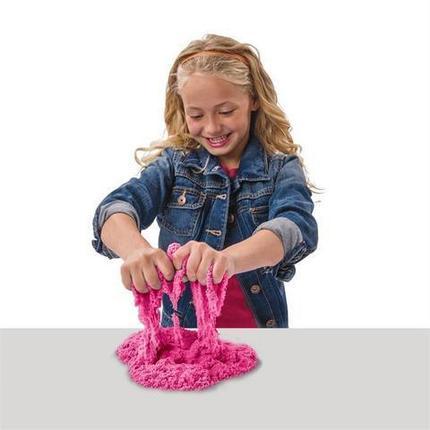 """Набор для лепки с кинетическим светящимся песком и формочками """"Kinetic sand"""" (Кубики), фото 2"""