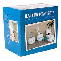 Набор аксессуаров для ванной комнаты 4 в 1 «Блеск и роскошь» (Бирюзовый), фото 3