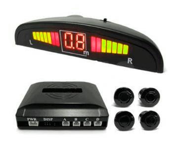 Парковочный радар-парктроник Assistant [4 датчика] (Серебряный)