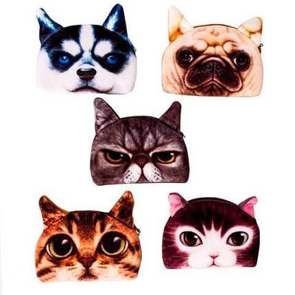 Кошелёк для мелочи с 3d принтом кошки и собаки (02), фото 2