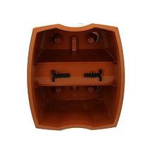 Кашпо на перила Crown Prosperplast [18х26х22 см, 7 л.] (Белый), фото 2