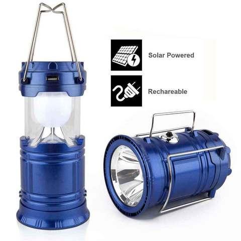 Фонарь-лампа для кемпинга на солнечной батарее с USB - разъёмом (SH-5811F (с вентилятором))