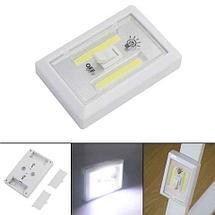 Светильник светодиодный на батарейках в виде выключателя освещения (с четырьмя светодиодными лентами), фото 2