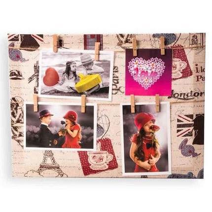 Фото коллаж с прищепками «Лондон - Париж» [4, 5 фото] (40x50 см), фото 2