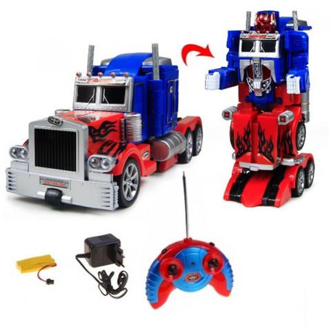 Машинка робот-трансформер на радиоуправлении «Transforming Autobot» (Optimus Prime (сине-красный))