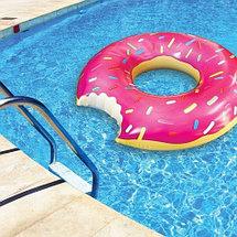 Круг надувной «Пончик» [60; 70; 80; 90; 120 см] (60 см / Розовая глазурь), фото 3