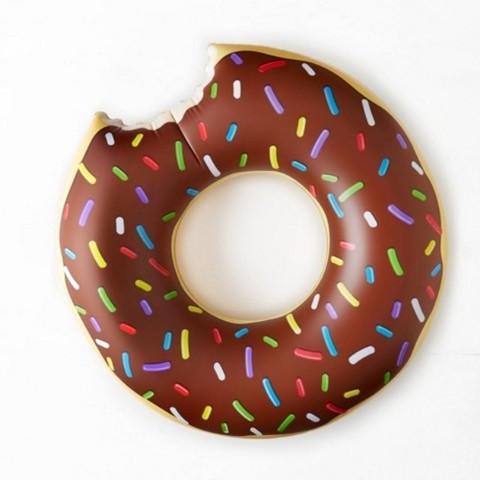 Круг надувной «Пончик» [60; 70; 80; 90; 120 см] (70 см / Коричневая глазурь)