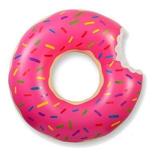 Круг надувной «Пончик» [60; 70; 80; 90; 120 см] (90 см / Розовая глазурь)