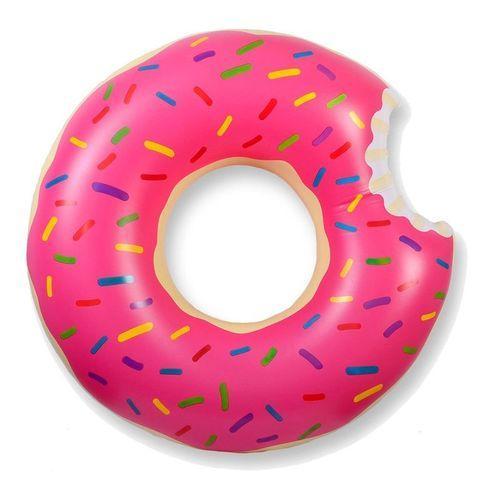 Круг надувной «Пончик» [60; 70; 80; 90; 120 см] (120 см / Розовая глазурь)