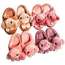 Тапочки детские домашние в виде зайчиков «Fashion» (34 / Светло-коричневый), фото 3
