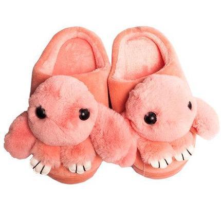 Тапочки детские домашние в виде зайчиков «Fashion» (34 / Светло-розовый), фото 2