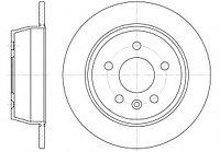 Тормозные диски Mercedes Vito W638 (98-03, задние, RoadHouse)