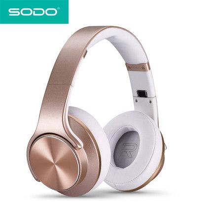 Bluetooth-наушники беспроводные с функцией колонок 2 в 1 SODO (Белый), фото 2