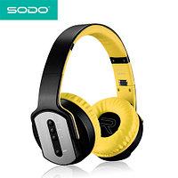 Bluetooth-наушники беспроводные с функцией колонок 2 в 1 SODO (Желтый)
