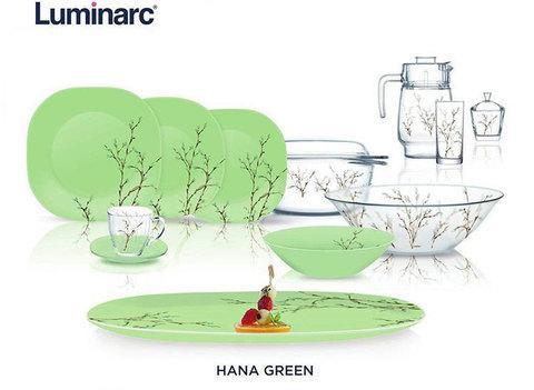 Сервиз столовый Luminarc Hana Beige / White / Green (Hana Green (69 предметов))