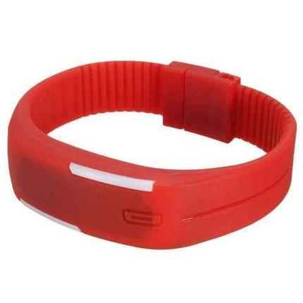 Часы-браслет электронные водонепроницаемые с LED-подсветкой (Красный), фото 2