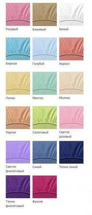 Простынь на резинке из махровой ткани Мерцана (180х200 см / Розовый), фото 2