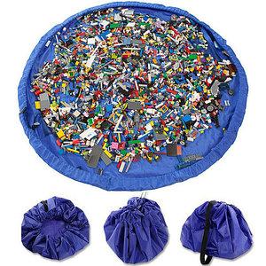 Сумка-коврик для игрушек Toy Bag (Ø 100 см / Лимонно-синяя)