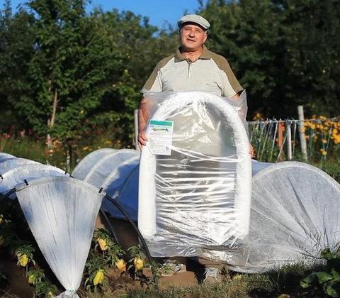 Парник - теплица «Подснежник/Вырастайка» [от 3 до 8 метров] с укрывным материалом спанбонд (4 метра)