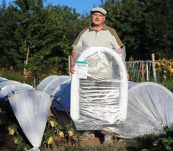 Парник - теплица «Подснежник/Вырастайка» [от 3 до 8 метров] с укрывным материалом спанбонд (6 метров)