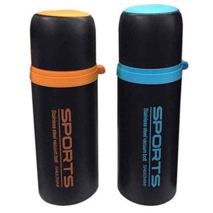 Термос вакуумный «Sports» [350/500 мл] SZM-8063 (Чёрный с зелёным / 350 мл), фото 2