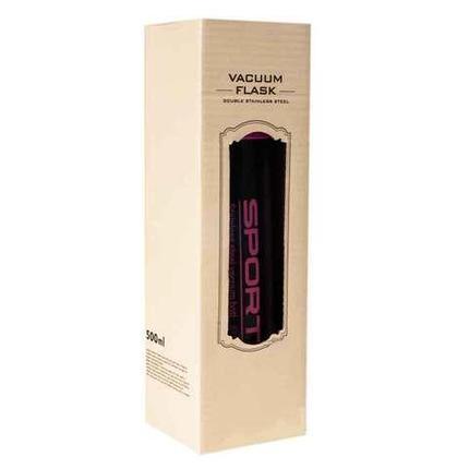 Термос вакуумный «Sports» [350/500 мл] SZM-8063 (Чёрный с оранжевым / 350 мл), фото 2