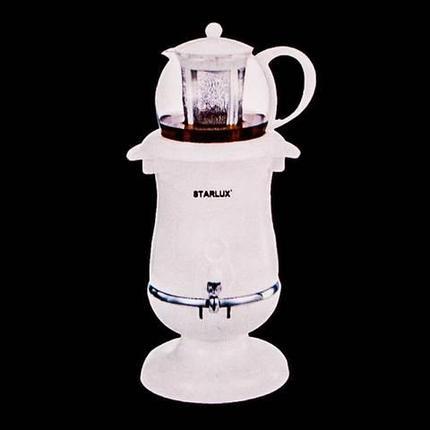 Самовар-термопот электрический со стеклянным заварочным чайником STARLUX SL-2510 [2.5 л; 1800 Вт], фото 2
