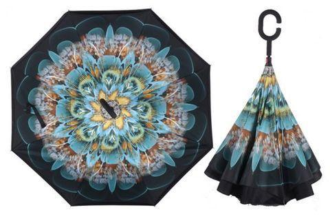 Чудо-зонт перевёртыш «My Umbrella» SUNRISE (Павлин)