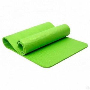 Коврик для занятий йогой и фитнесом трехслойный YOGA MAT [6 мм; 1 кг] (Зеленый)