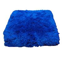 Плед-покрывало с длинным ворсом «Травка» Blumarine (Синий)
